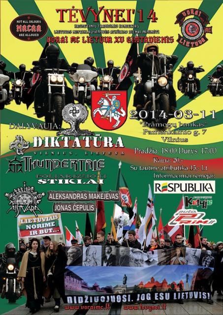 Kasmetinis tradicinis kovo 11-osios koncertas Tėvynei '14!